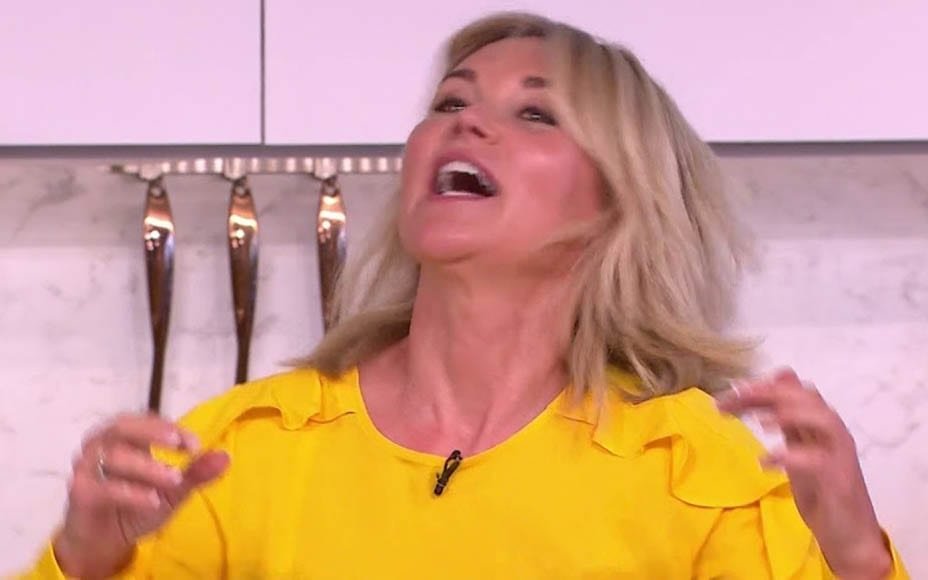 Inapproriate Anth' – Anthea Turner mocks coronavirus – Anthea Turner makes an inappropriate joke about coronavirus in referencing her knicker flashing chum Lizzie Cundy as 'Cundyvirus'