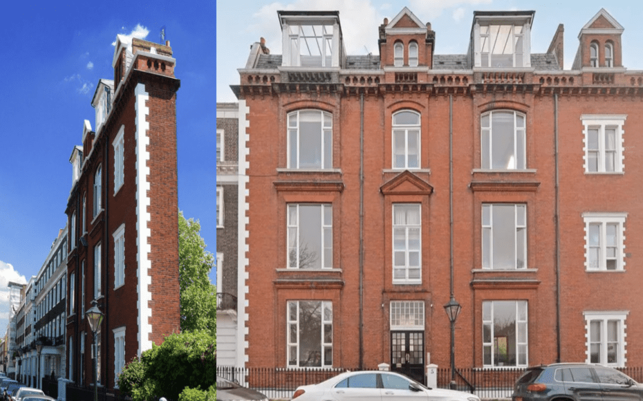 Going Thin – Two Into One? The Thin House, 5 Thurloe Square, South Kensington, London, SW7 2TA, United Kingdom. Second apartment in South Kensington's famous 'Thin House' comes to the market in March 2020 after another has languished for sale for four years since 2016. Second floor for sale through Winkworth for £875,000. Third floor for sale through Rokstone for £895,000.