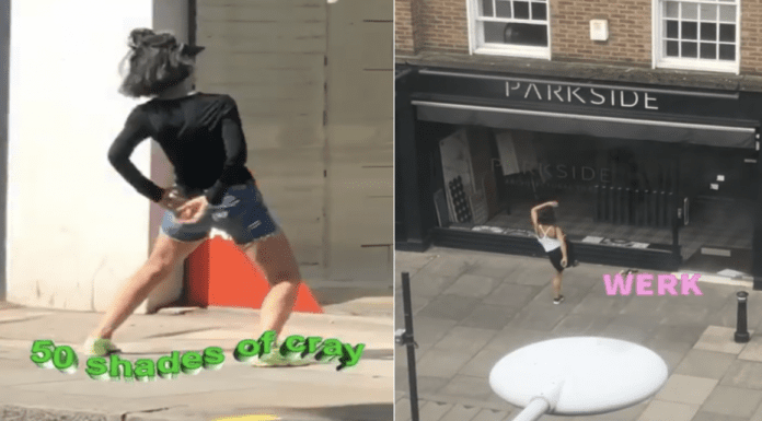 Who is Chelsea's 'Window Twerky'? Fifty Shades of Strictly in COVID-19 – 'The Steeple Times' asks readers to name brilliantly batshit bonkers bird spotted gyrating in front of Chelsea shops during the coronavirus lockdown.