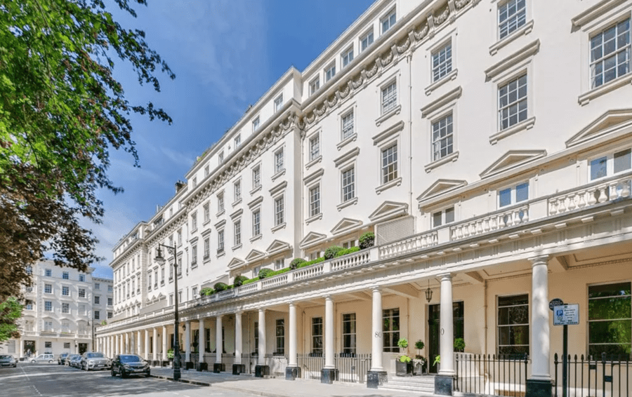 An Eaton Mess – £22.5m for unrenovated 80 Eaton Square, SW1 – Eaton Square apartment for sale for £22.5 million through Chestertons in spite of needing complete renovation; Flats A & C, 80 Eaton Square, Belgravia, London, SW1W 9AP, United Kingdom are listed at a price 25% cheaper than it was five years earlier when it was priced at £30 million through Savills.
