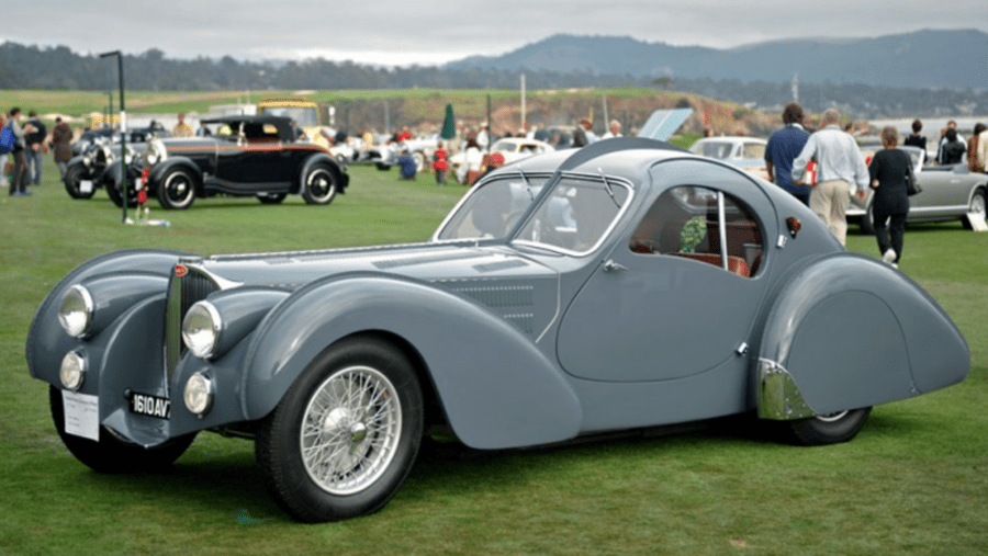 "Beauty's in the Eye of the Bargain Basement Bugatti – 2016 'Assembled Vehicle' 1939 Delahaye USA Pacific by Terry Cook – Replica ""homage to Jean Bugatti's Type 57S Atlantic coupé"" to be auctioned for a sum 100% lower than the missing most famous of the four originals is said to be worth – The vehicle will be sold as part of the RM Sotheby's 'Drive Into Summer' online sale from 21st to 29th May. They have set an estimate of £124,000 to £165,000 ($150,000 to $200,000, €139,000 to €185,000 or درهم551,000 to درهم735,000)"