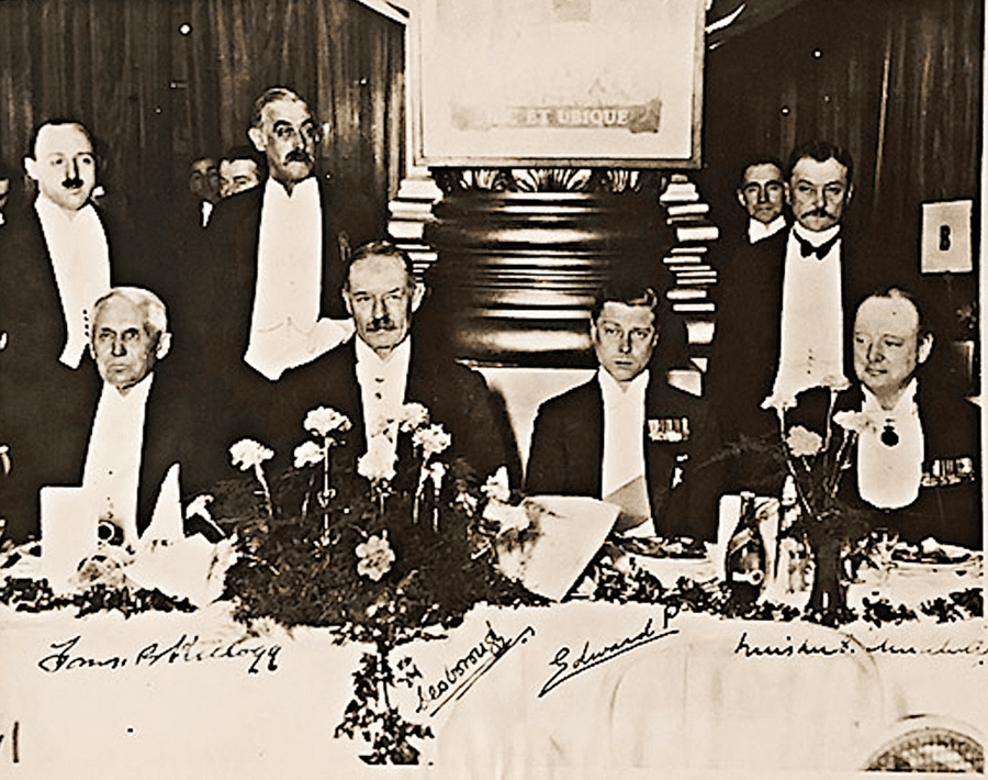 Our Smiling Prince and Our Scowling PM – Churchill and Edward VIII – Rare photograph of Winston Churchill dining with Edward VIII to be sold as part of a sale on the eve of the 80th anniversary of him becoming Prime Minister – The image will be sold by RM Sotheby's New York on the 20th May 2020 as part of their 'Churchill in Charge – 80th Anniversary' sale. A starting bid of £12,245 ($15,000, €13,695 or درهم55,088) has been set for the photograph along with a high estimate of £19,588 ($24,000, €21,907 or درهم88,140).