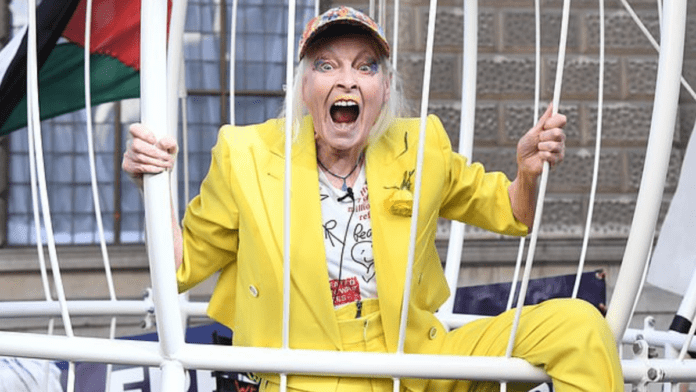 """Wally of the Week – Dame Vivienne Westwood – Fruitcake Dame Vivienne Westwood behaves as normal during a BBC News interview and declares the media """"morons."""""""