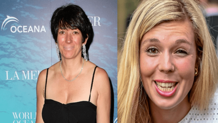 The Calamities Carrie On – Carrie Symonds & Ghislaine Maxwell – Ghislaine Maxwell was involved in the charity Carrie Symonds works for; Dominic Cummings' nemesis also has an ex-lover named Oliver Haiste (also spelt 'Haste') with links to Russia and the far right, racist Traditional Britain Group.