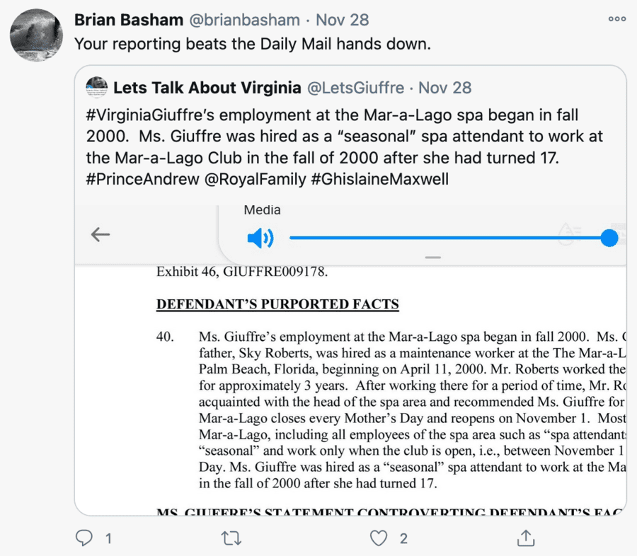 Basham-ing Ghislaine – Brian Basham tries to help Ghislaine Maxwell – Ghislaine Maxwell apologist Brian Basham leaves a curious comment on 'The Steeple Times' as part of his campaign to try to free the mucky madam.