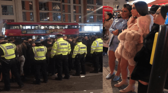 Tempestuous Teenage Swarm Savages SW3 – Harrods raid by mob – Mob of tempestuous teenagers descend on Brompton Road, SW3 and end up in a maskless face-off with 200 police officers.